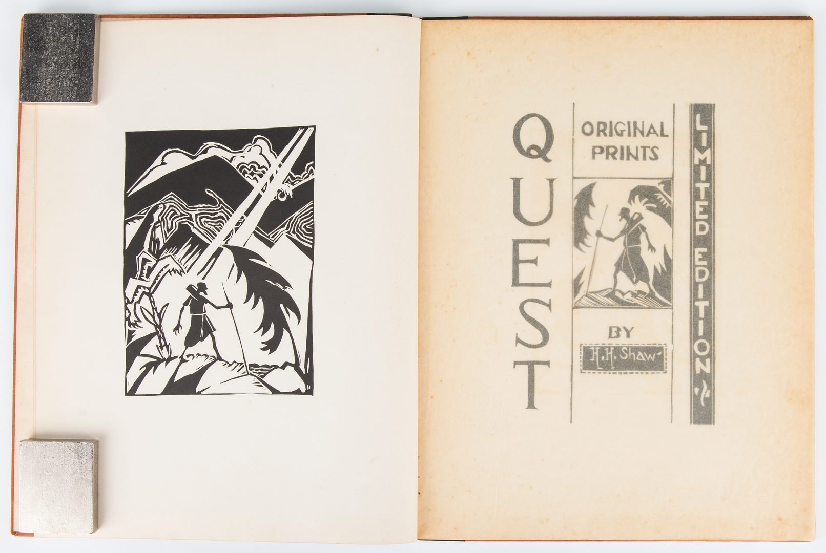 Lot 153: 3 H.H. Shaw Abstract Maritime Paintings, Quest Book, 4 items