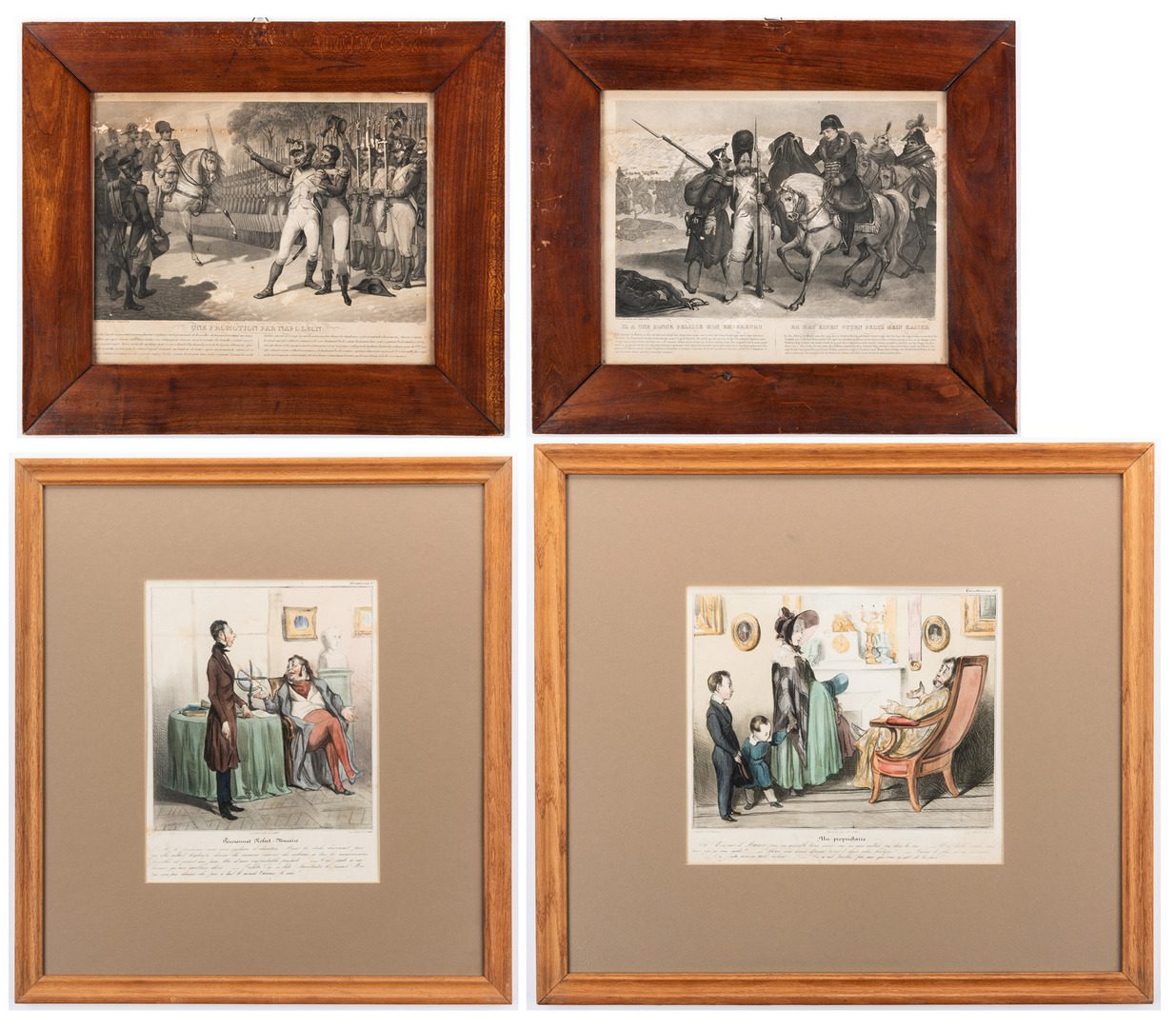 Lot 159: 4 Mid 19th Cent. French Lithographs