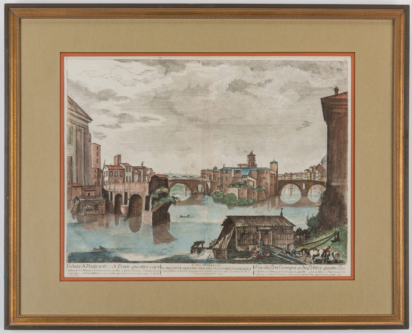 Lot 160: Set 4 Engravings, 18th c. Italian Scenes