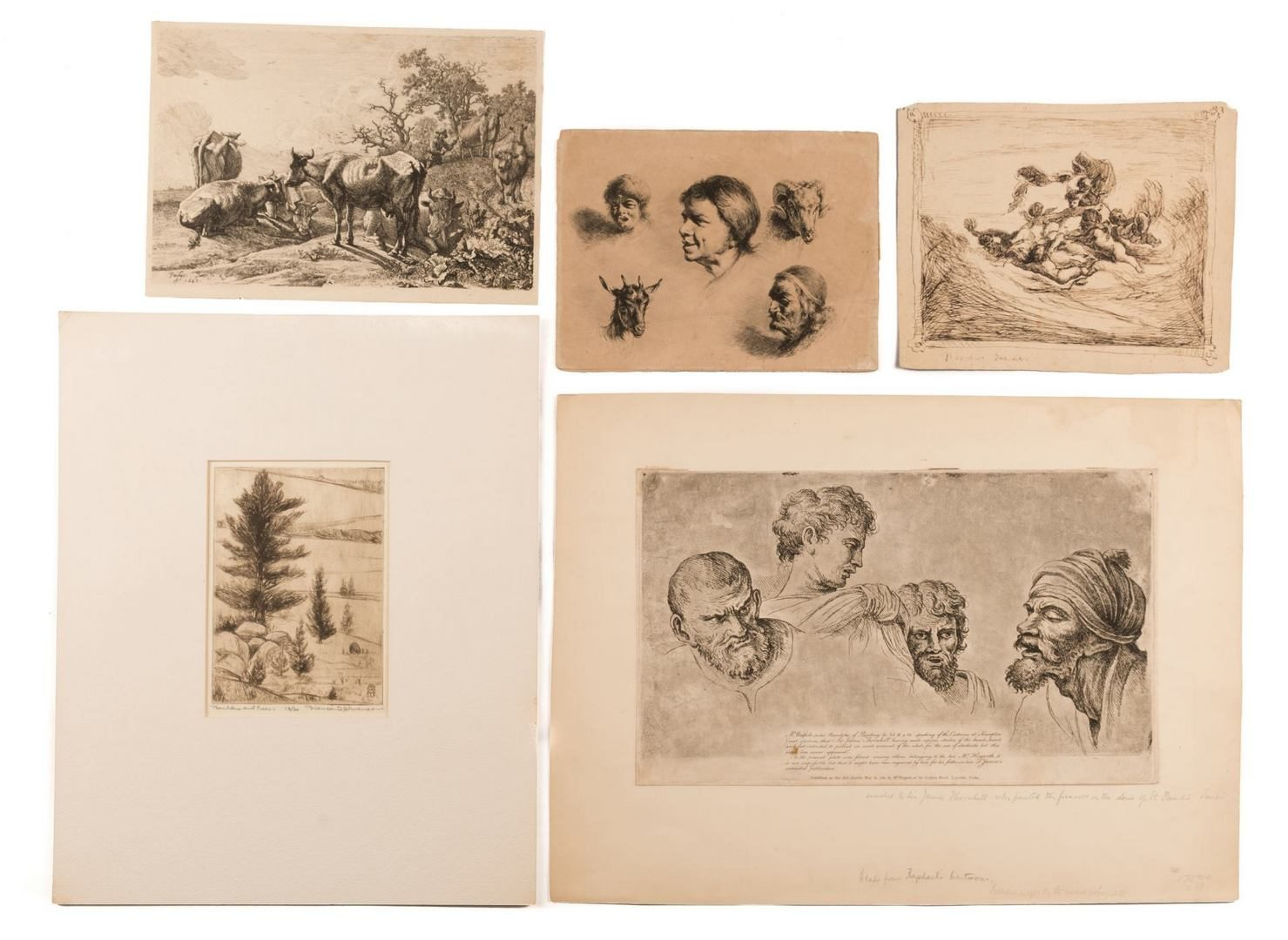 Lot 163: 5 Works on Paper, some restrikes