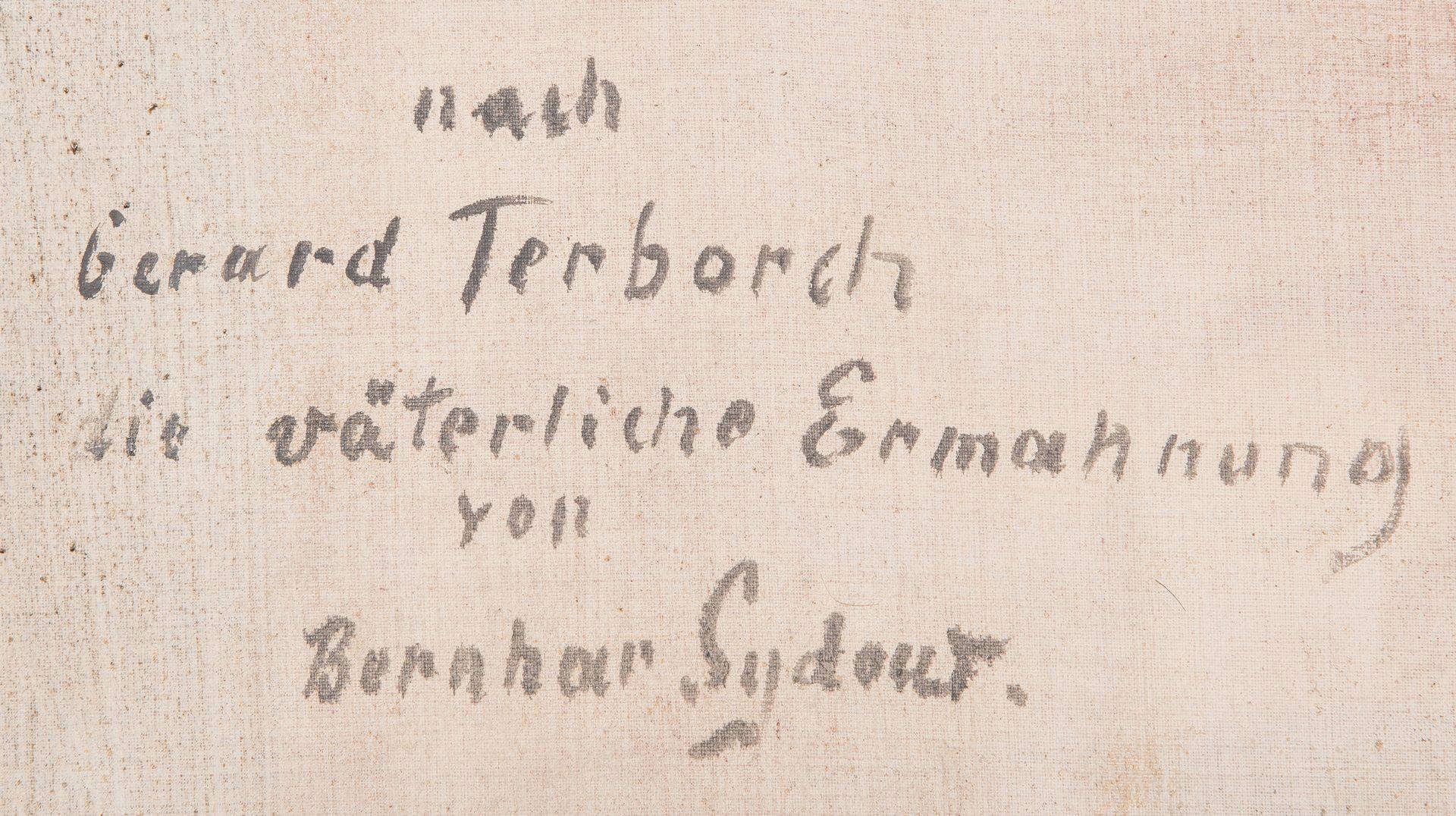 Lot 165: After Gerard Ter Borch, O/C, Dutch Genre Scene
