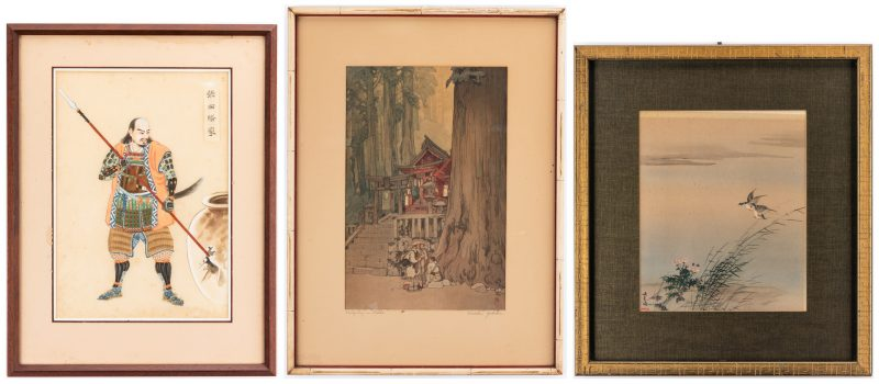 Lot 166: 3 Asian Artworks, Gouache & Prints