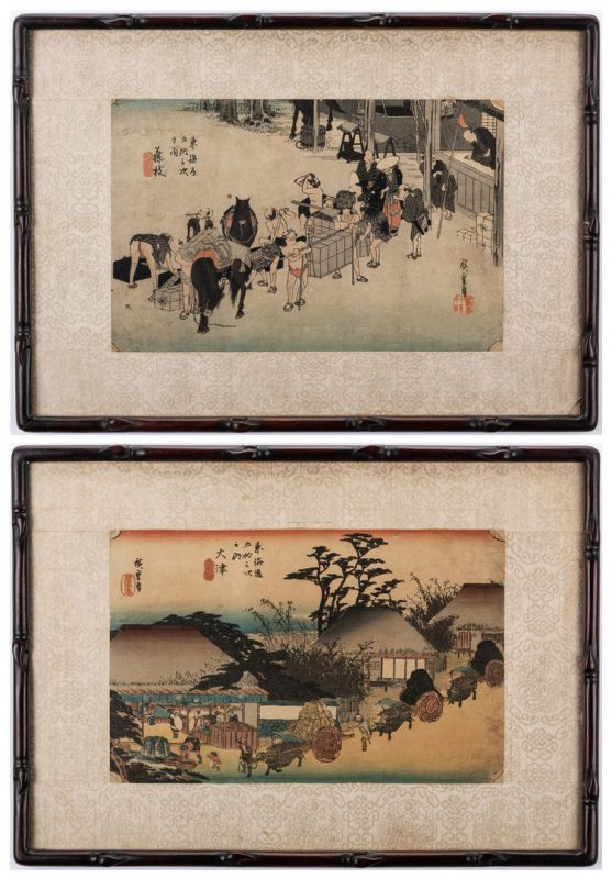 Lot 168: 2 Japanese Hiroshige Woodblock Prints