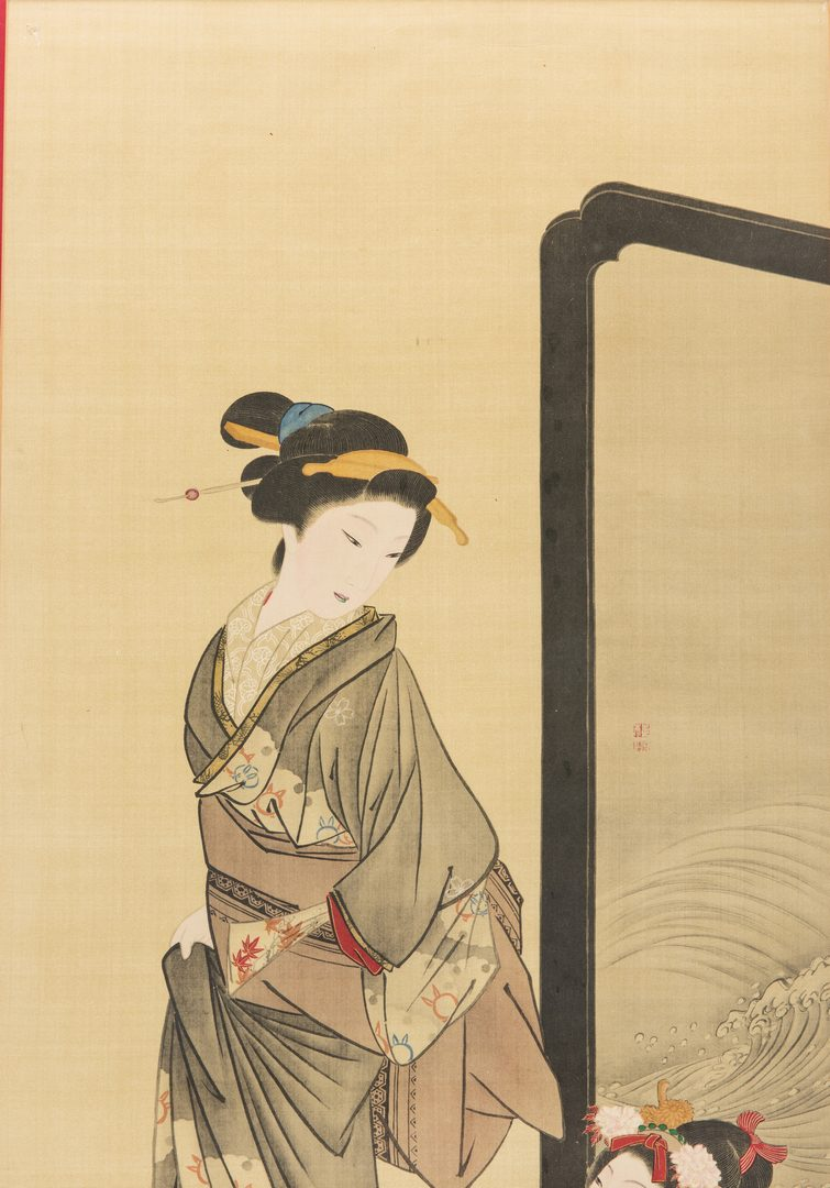 Lot 169: 3 Japanese Woodblock Prints w/ Females
