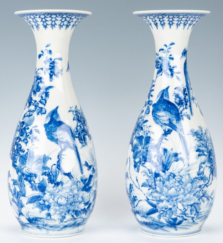 Lot 16: Pr. Japanese Porcelain Arita Vases