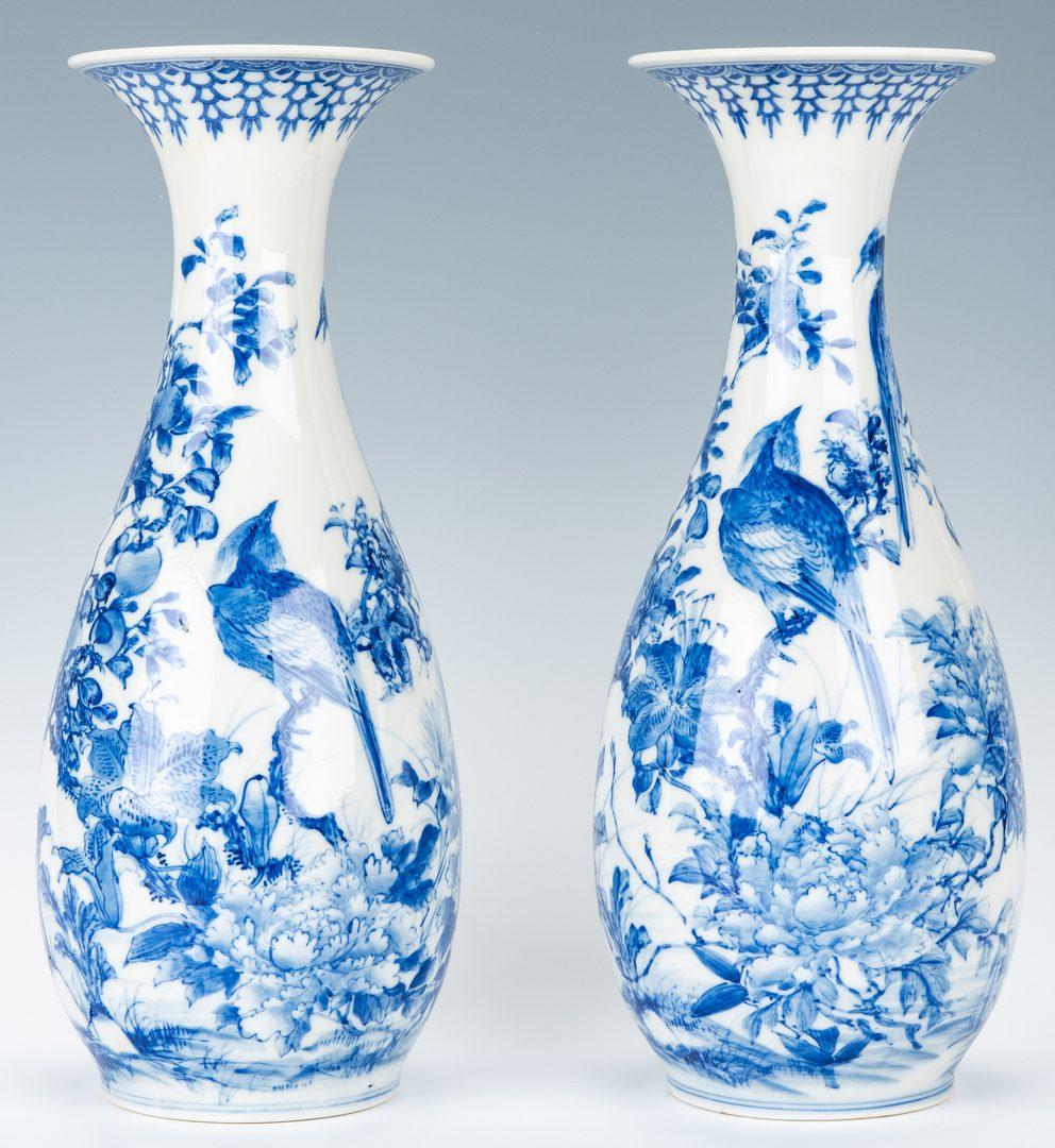 Lot 16: Pr. Japanese Porcelain Arita Vases