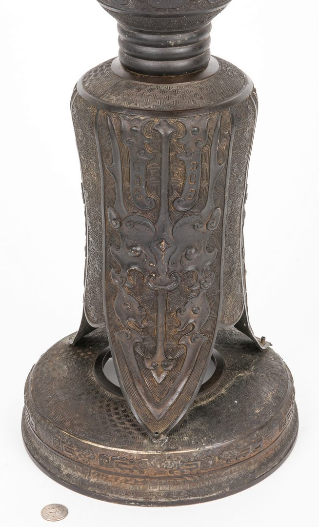 Lot 173: Chinese Bronze Ritual Pedestal, 3 pcs