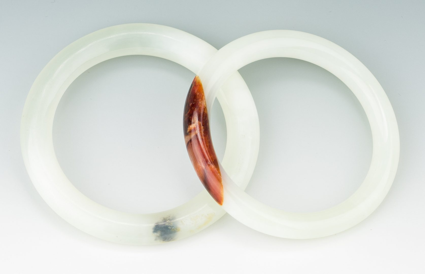 Lot 174: 5 Chinese Carved Jade Bangles