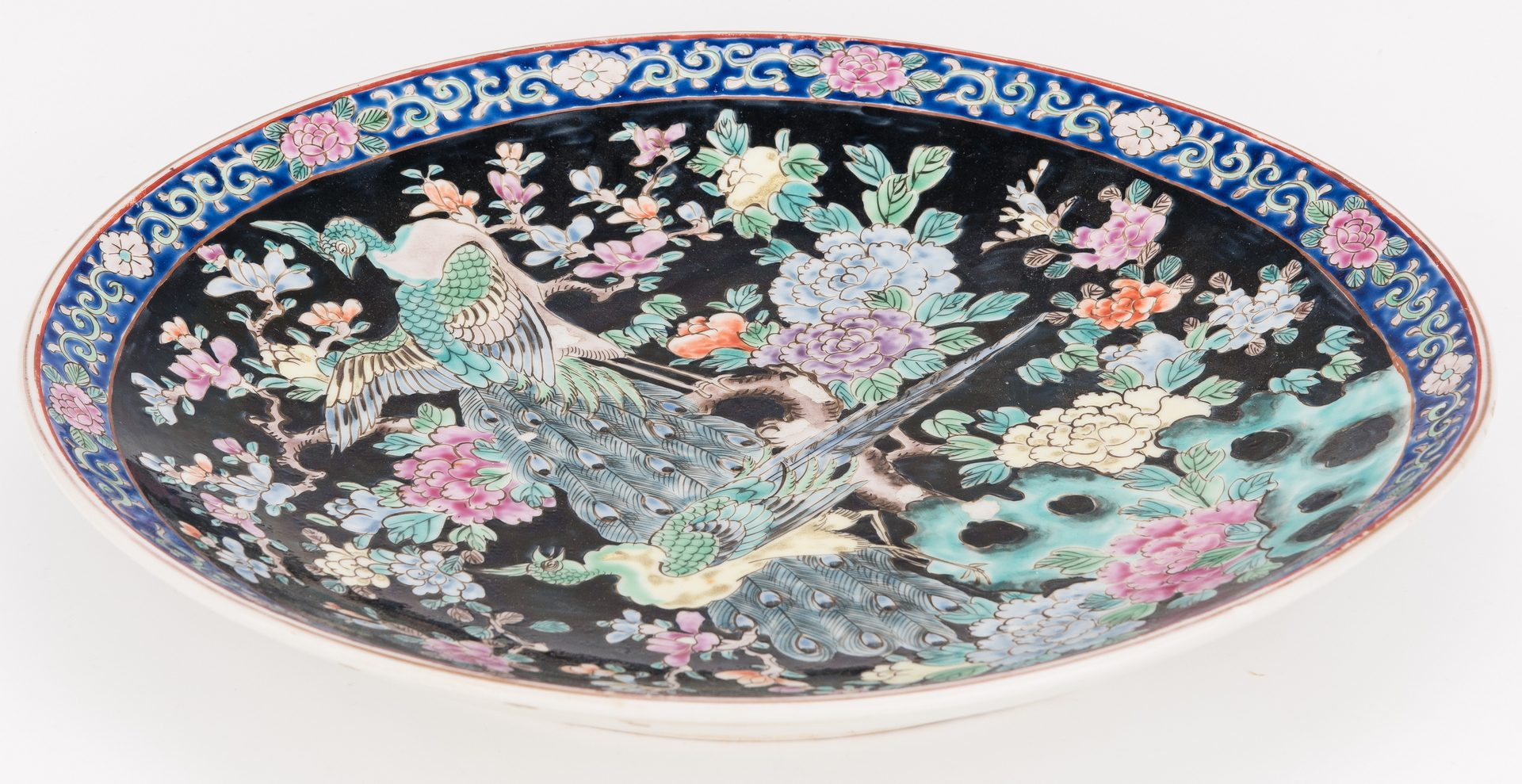 Lot 180: 4 Asian Decorative Items, inc. Famille Noir