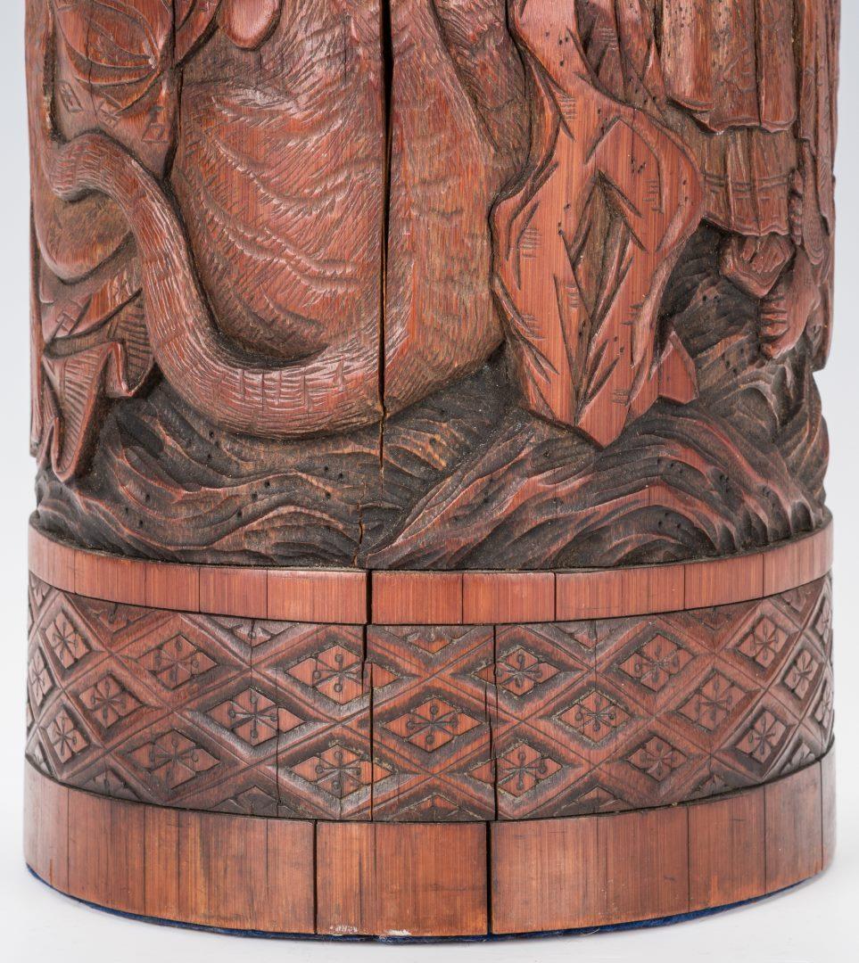 Lot 183: Asian Brush Pot, Gong & Charger