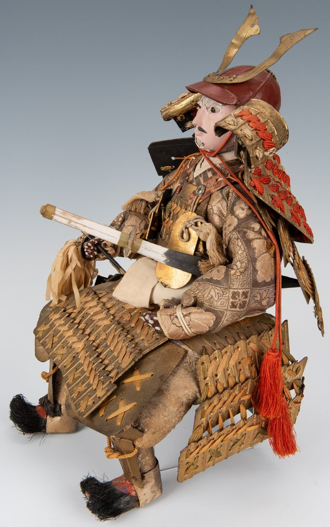 Lot 185: 3 Asian Decorative Items, inc. Japanese Doll