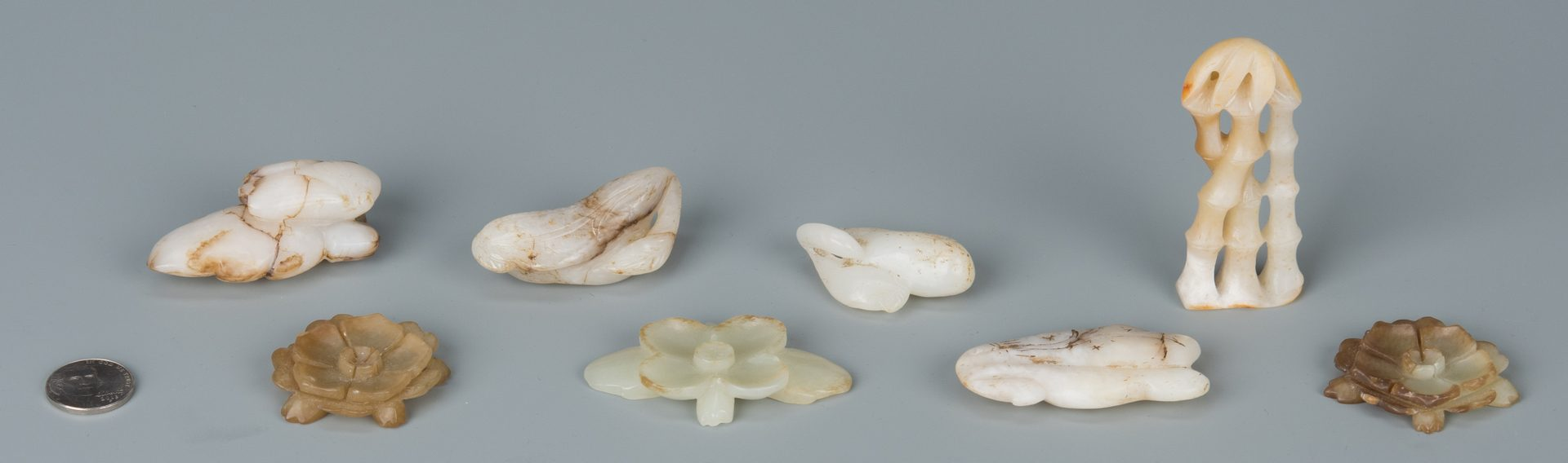 Lot 187: 8 Chinese Jade Carved Toggles