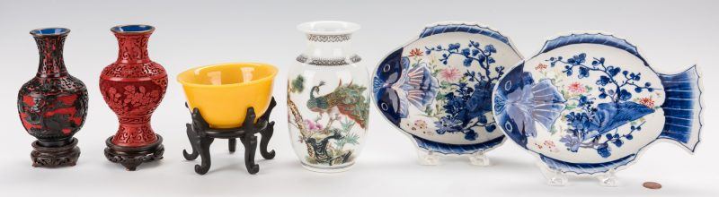Lot 190: 6 Asian Decorative Table Items