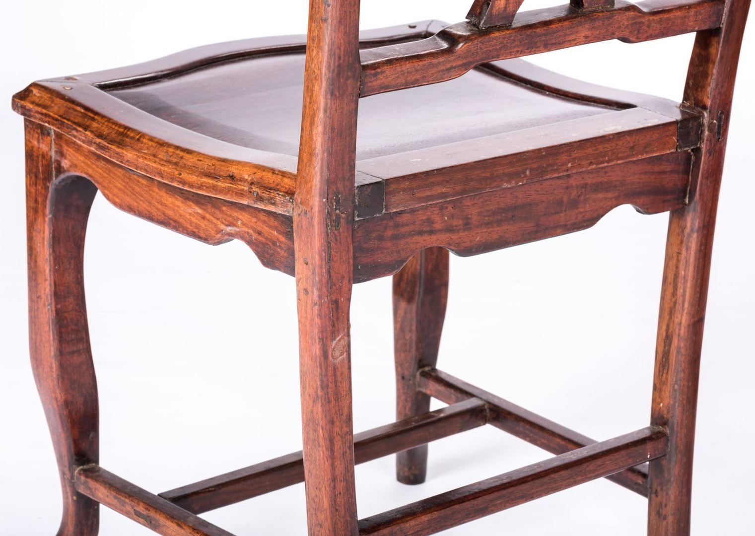 Lot 193: 4 Chinese chairs inset with carved hardstone