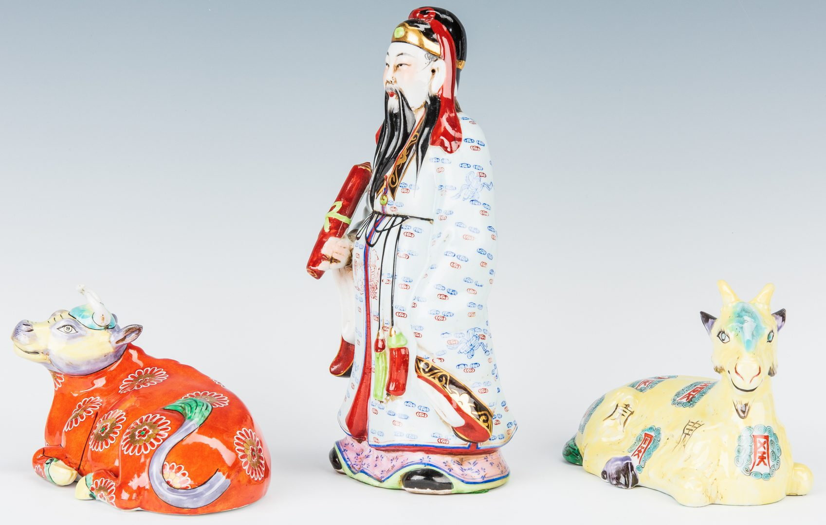 Lot 196: 3 Asian Themed Porcelain Figurals