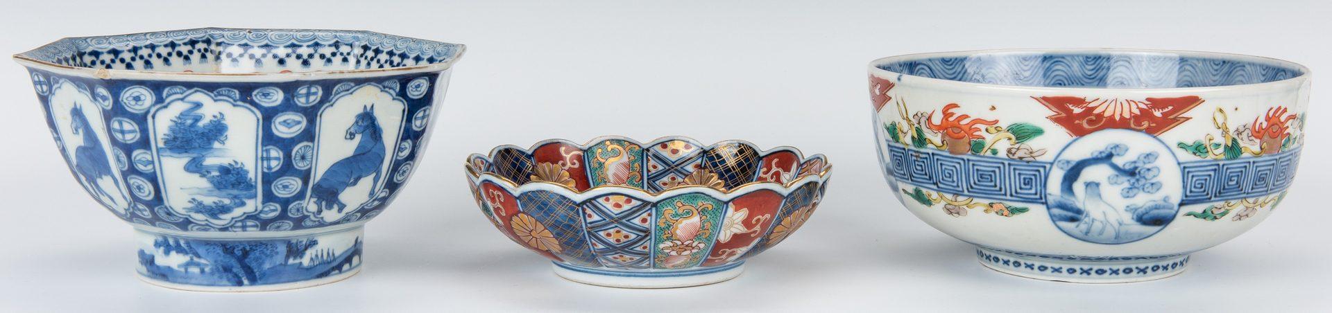 Lot 198: 6 Asian Porcelain Bowls & Plates, inc. Imari