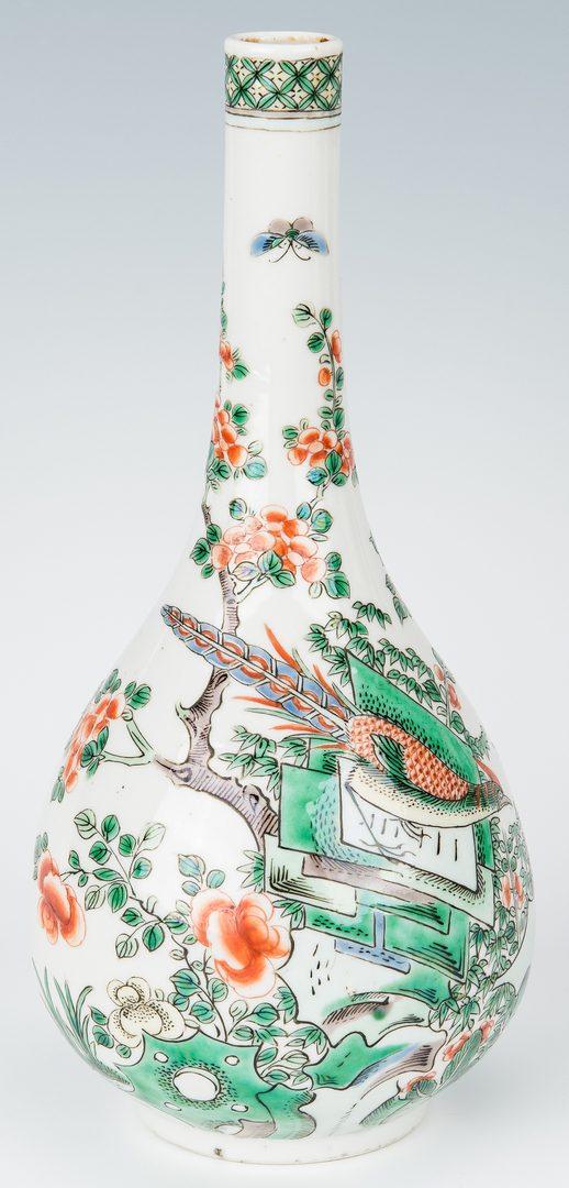 Lot 199: 3 Pcs. Chinese Famille Verte Porcelain