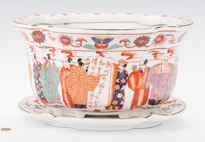 Lot 201: Asian Porcelain Jardiniere