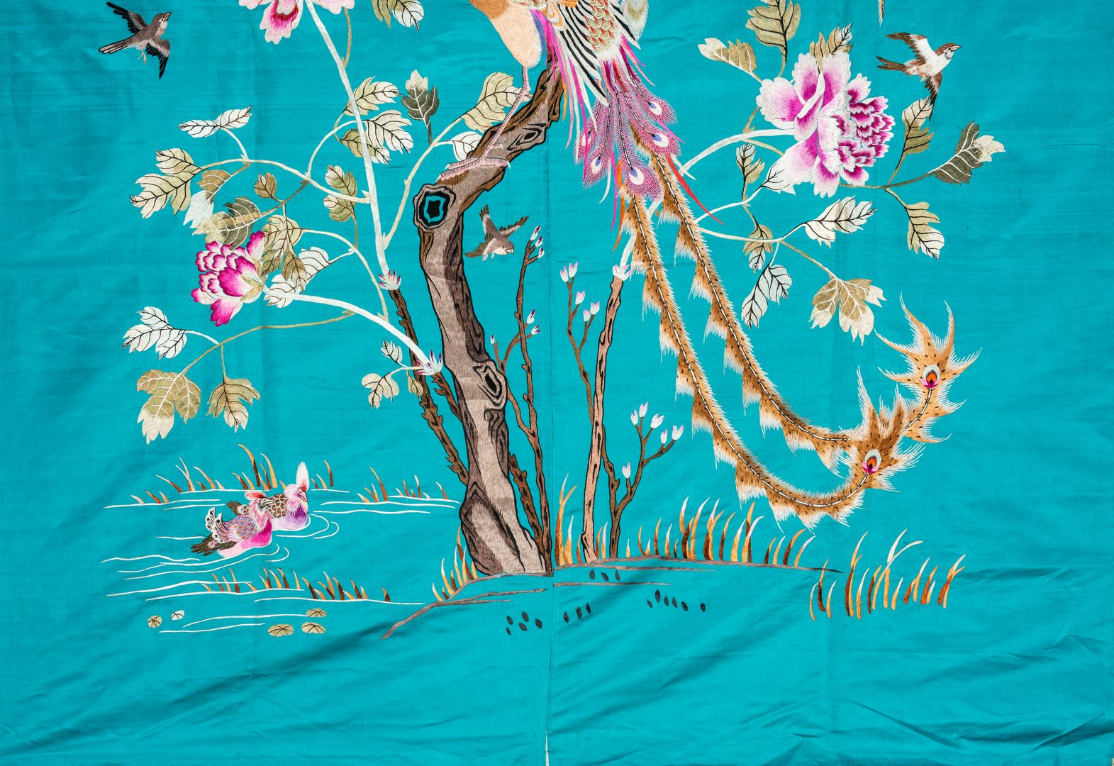 Lot 202: 4 Embroidered Asian Textiles