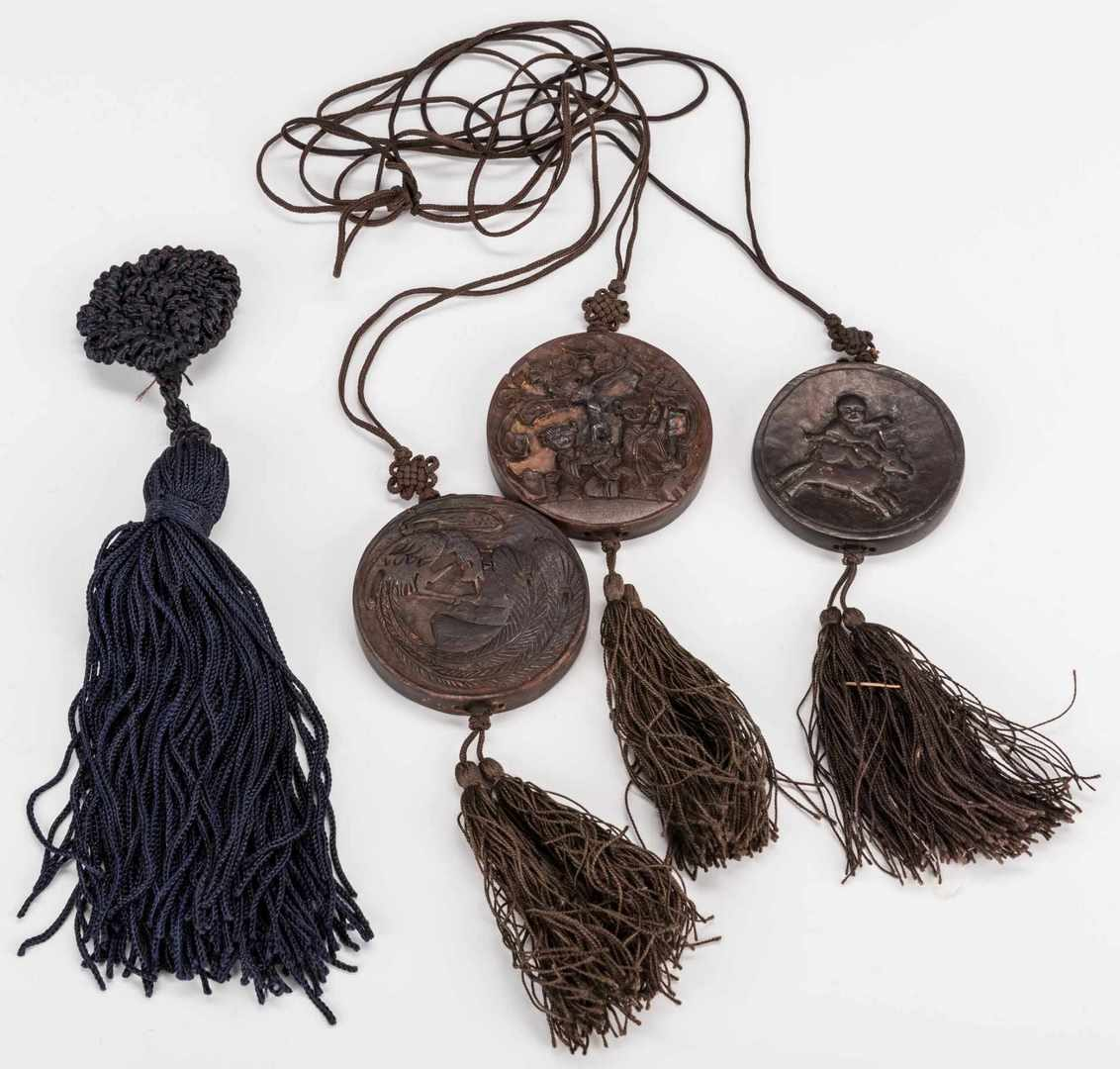 Lot 203: 14 Asian items, inc. Shoes, Clothing, Pendants