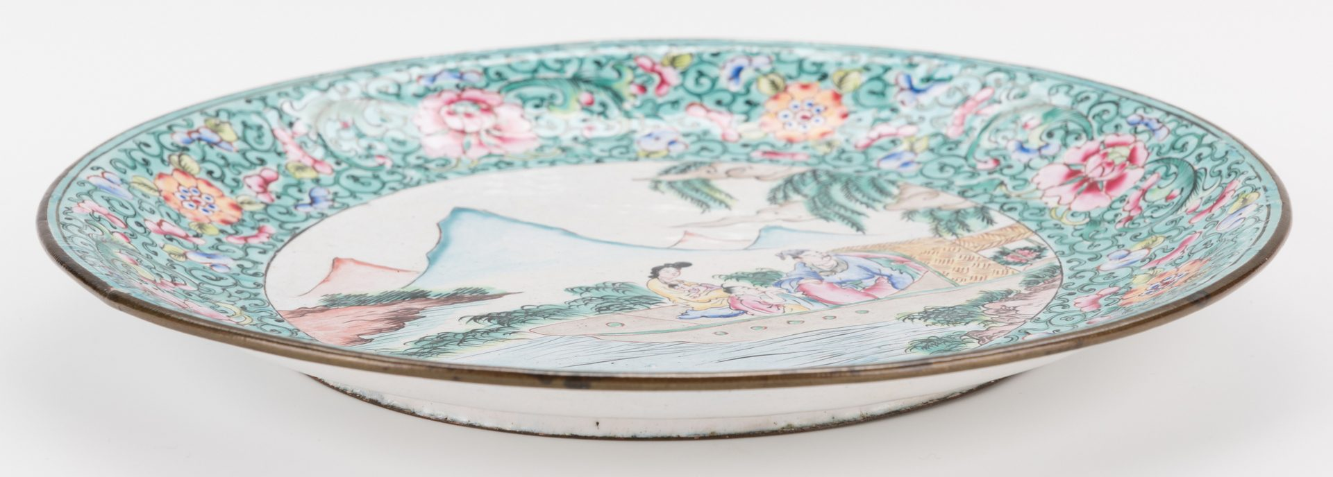 Lot 207: 5 Pcs. Chinese Cloisonne & Enameled Table Items