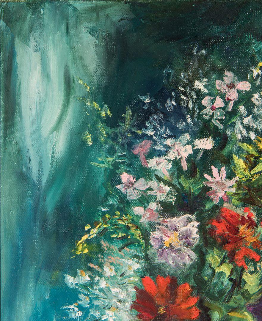 Lot 208: William Marcel Clochard, O/C, Floral Still Life Painting
