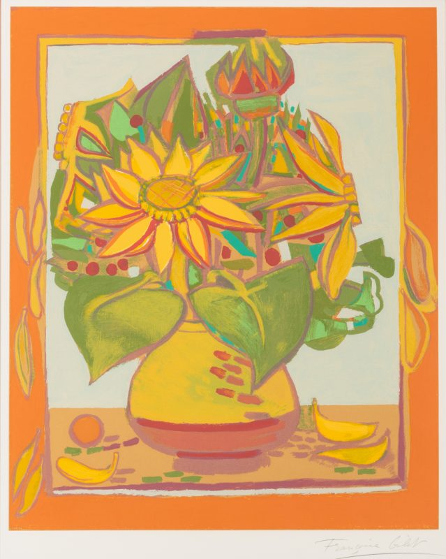 "Lot 211: Francoise Gilot ""Still Life"" Lithograph, Signed"