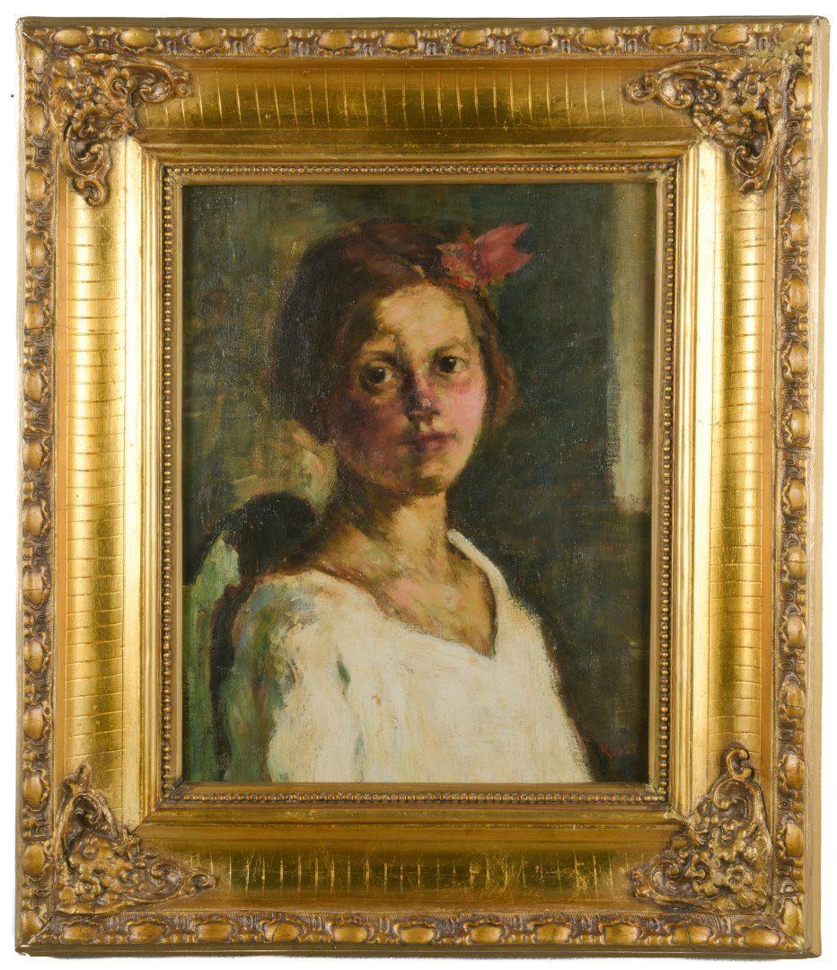 Lot 213: Jozsef Koszta O/C Portrait