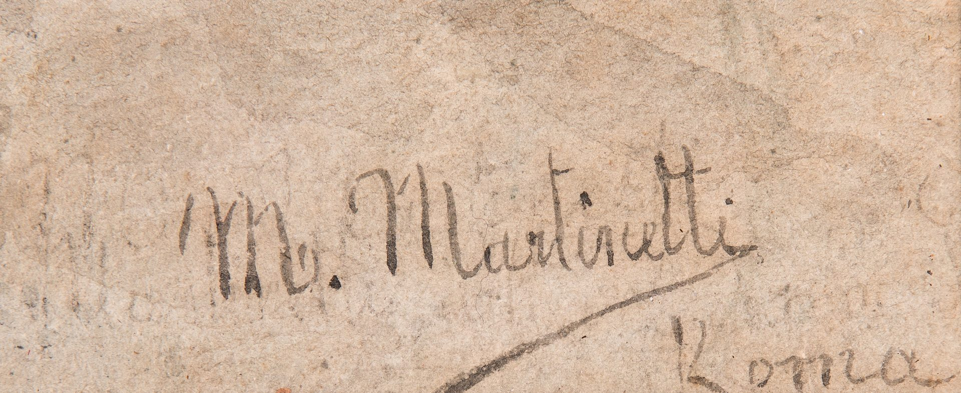 Lot 217: Maria Martinetti, Watercolor of an Italian Peasant