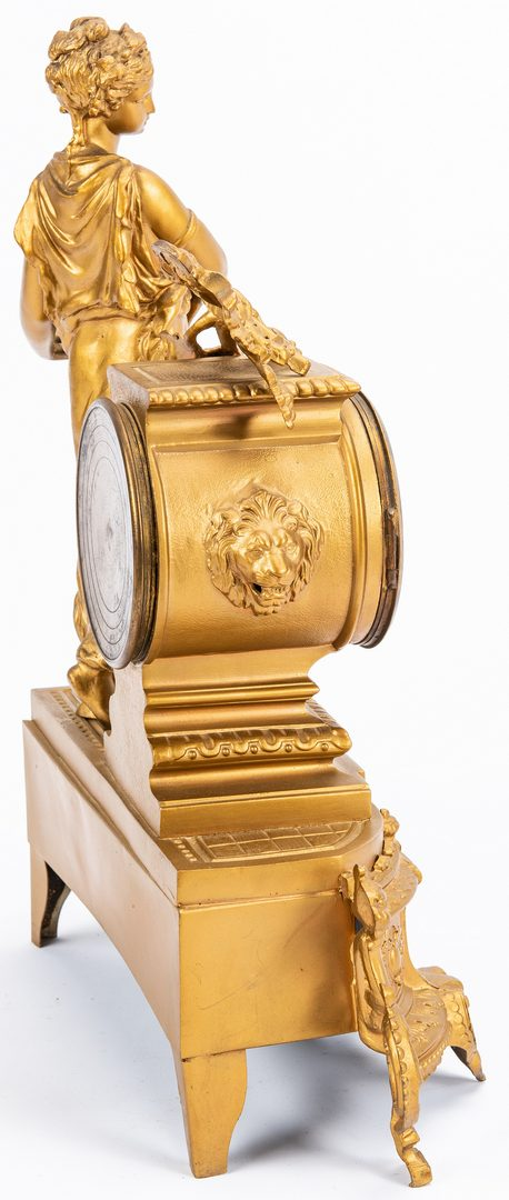 Lot 229: French Figural Mantle Clock