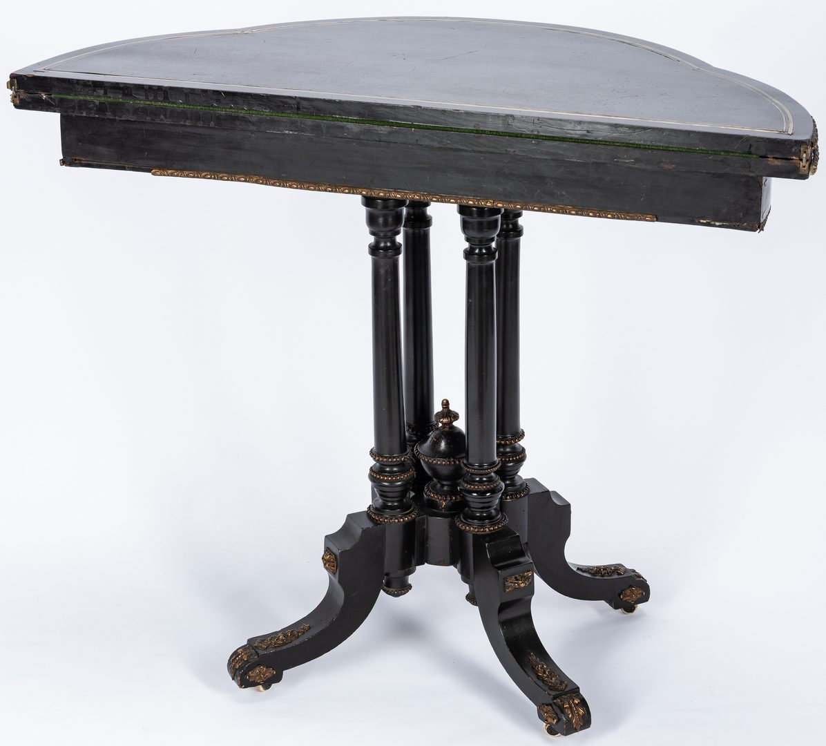 Lot 231: Ebonized Neo-Grec Card Table