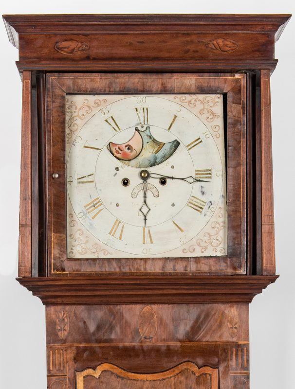 Lot 234: Signed 1801 English Tallcase Clock