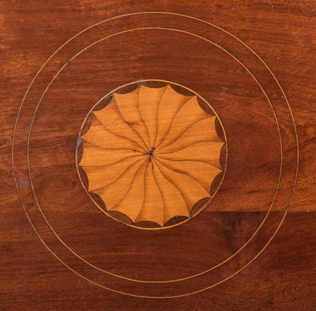 Lot 238: George III Patera Inlaid Table