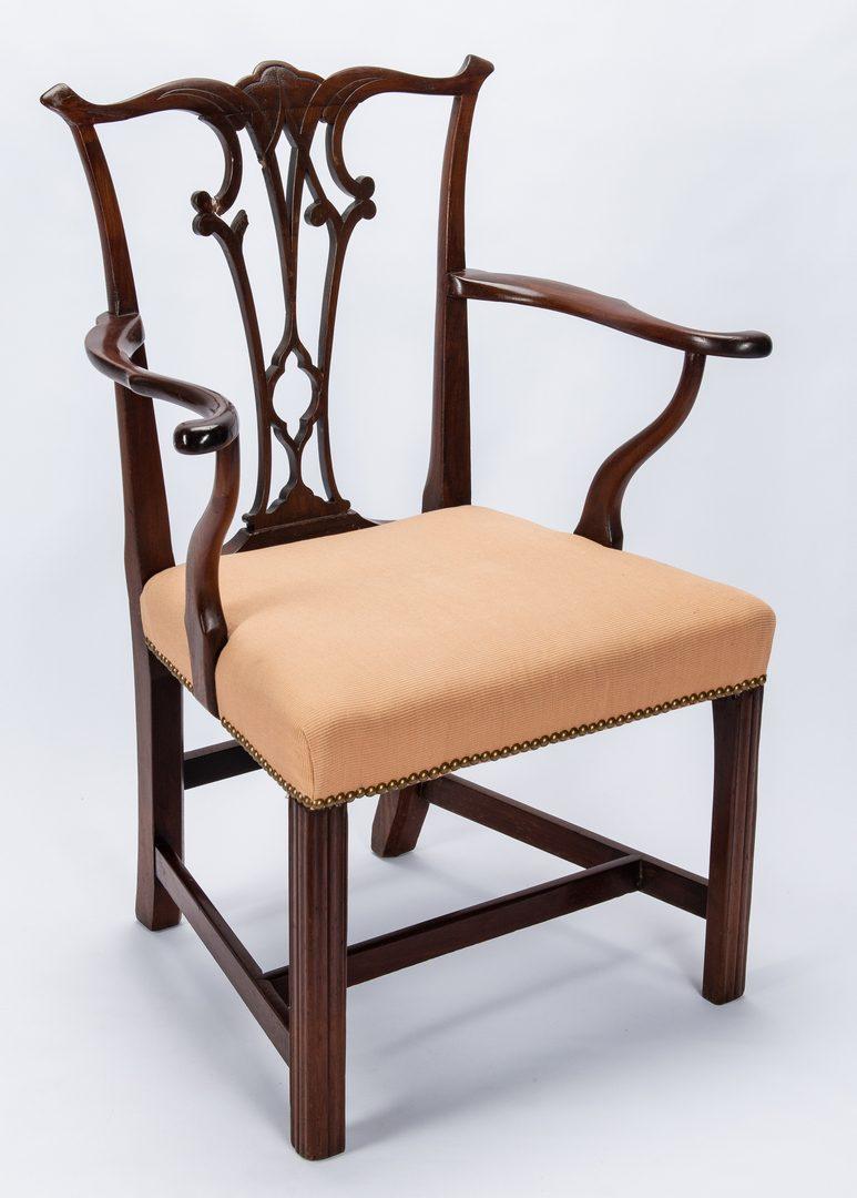 Lot 239: Mahogany Chippendale Armchair, poss. Irish