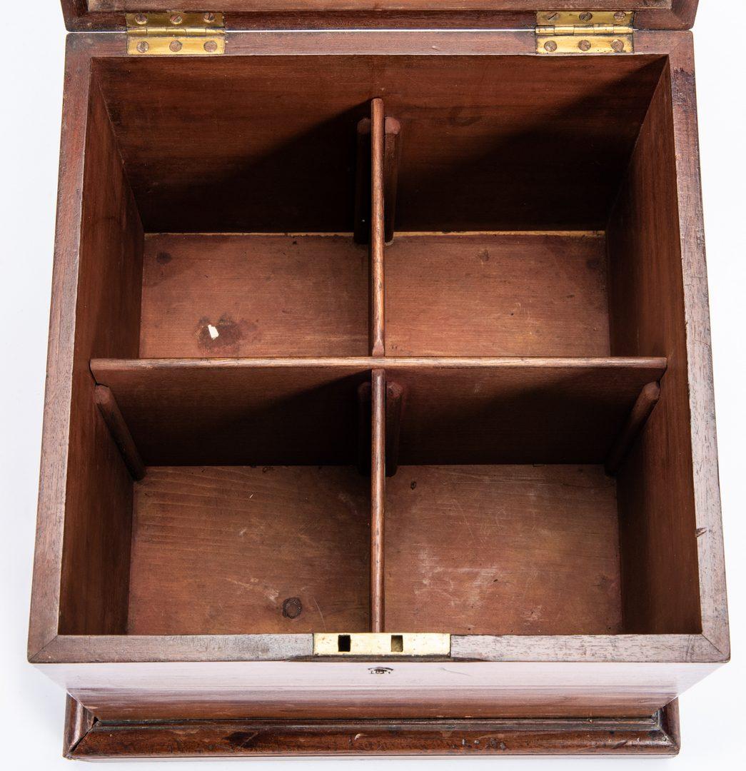 Lot 240: English Mahogany Cellarette Box