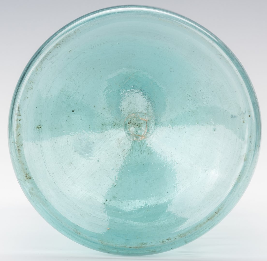 Lot 241: 19th Cent. Stiegel Type Glass Container