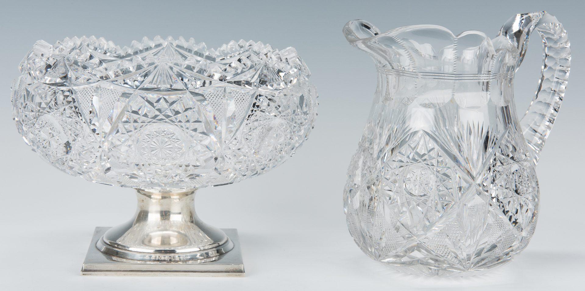 Lot 242: 3 American Brilliant Cut Glass Items