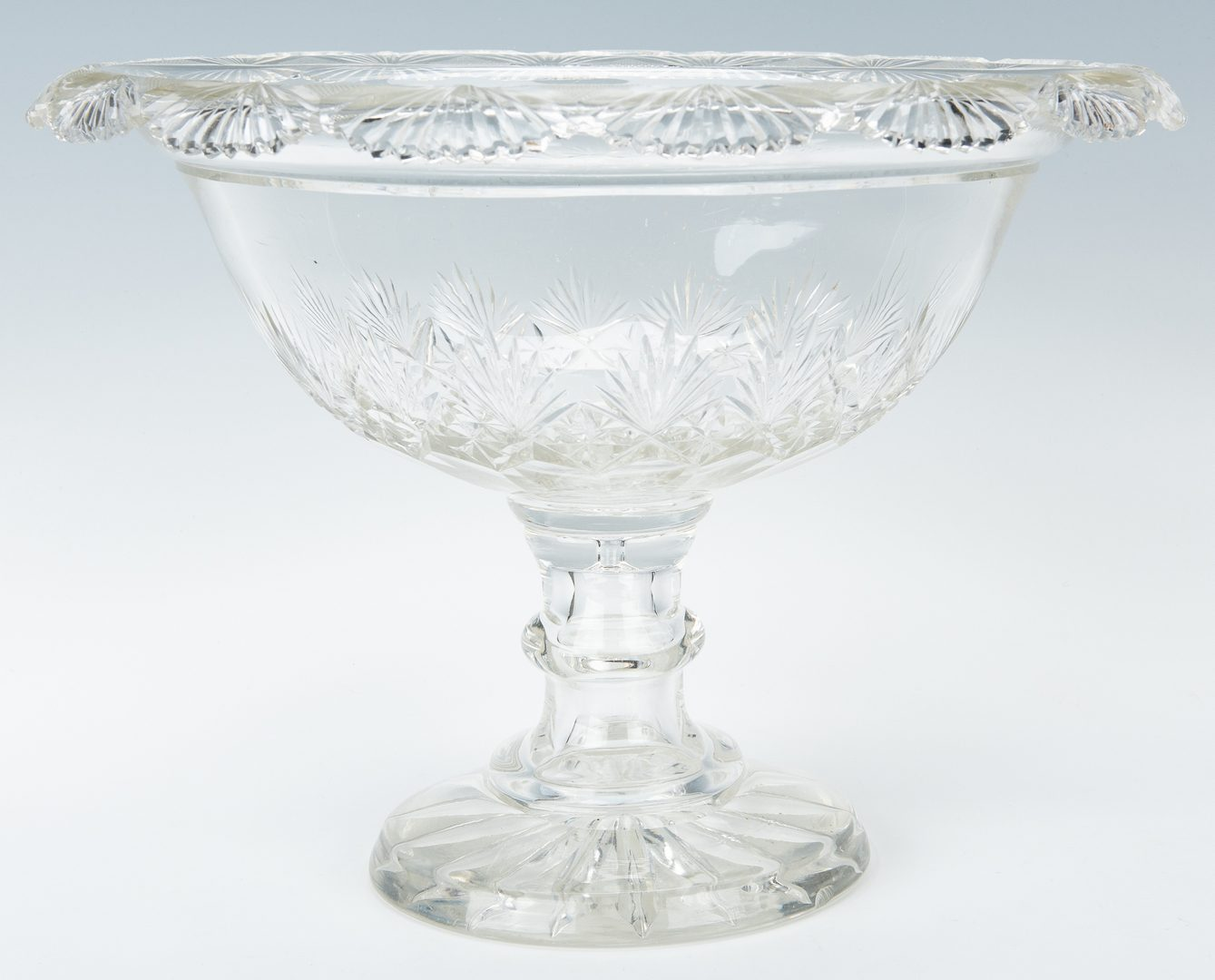 Lot 243: Anglo-Irish Cut-Crystal: 3 Decanters & 1 Fruit Bowl