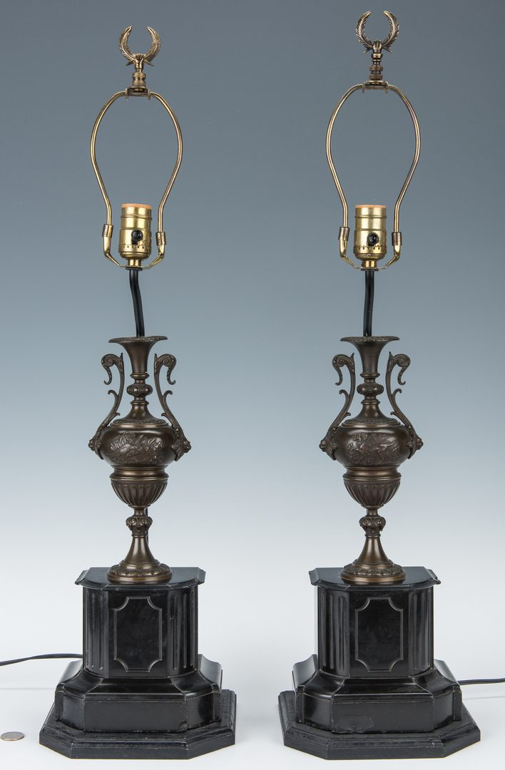 Lot 249: Pair Neoclassical Style Lamps