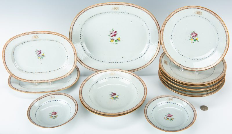 Lot 250: Boyd/Coleman Family Chinese Export Partial Dinner Set