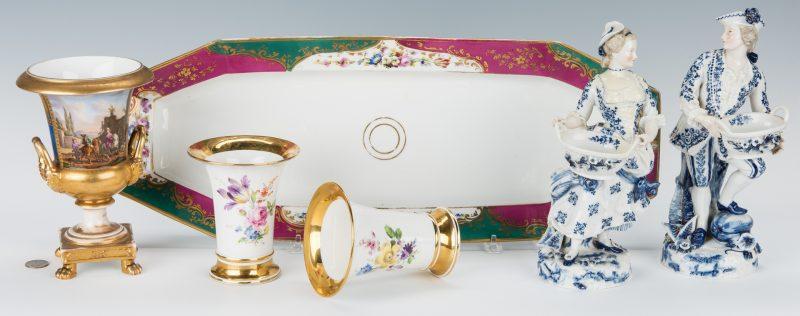 Lot 253: 6 pcs European Porcelain, inc. Meissen