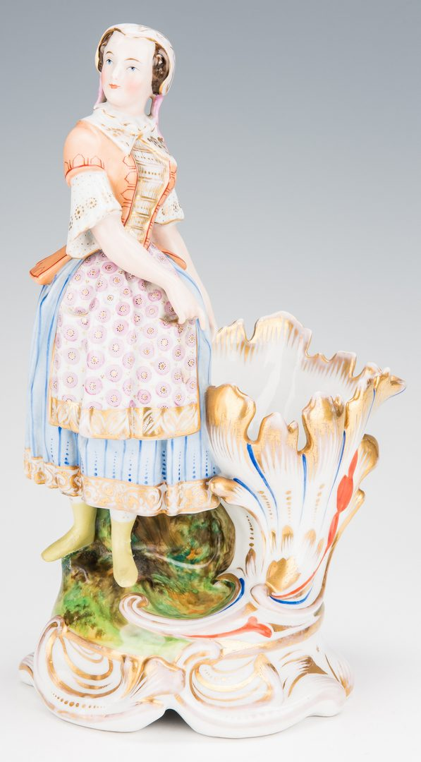 Lot 254: 5 German and Staffordshire Figurines