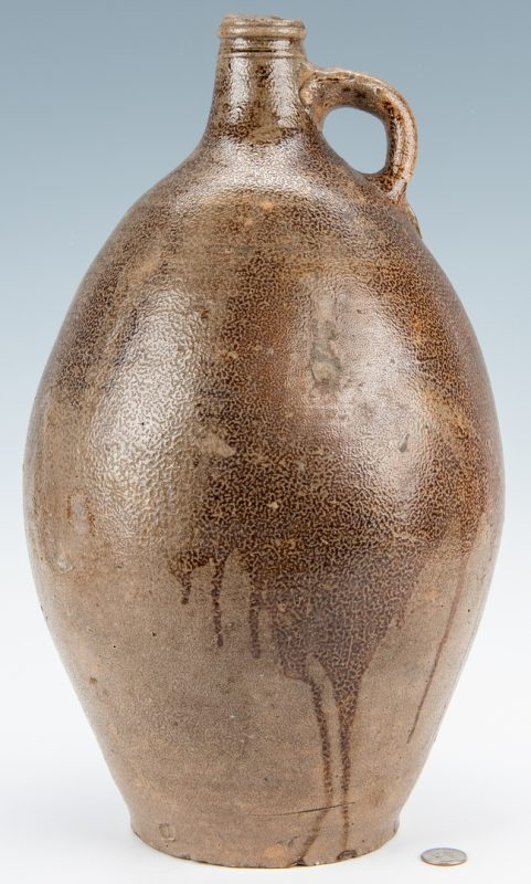 Lot 257: German Bellarmine Stoneware jug, 18th century