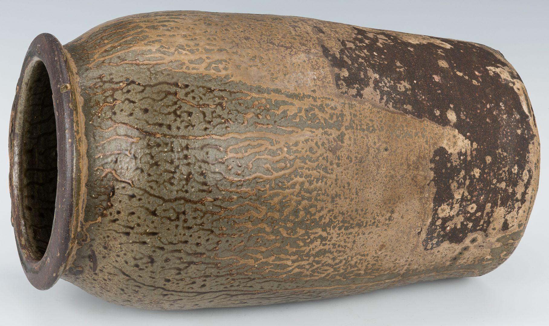 Lot 261: Georgia Alkaline Glazed Pottery Churn