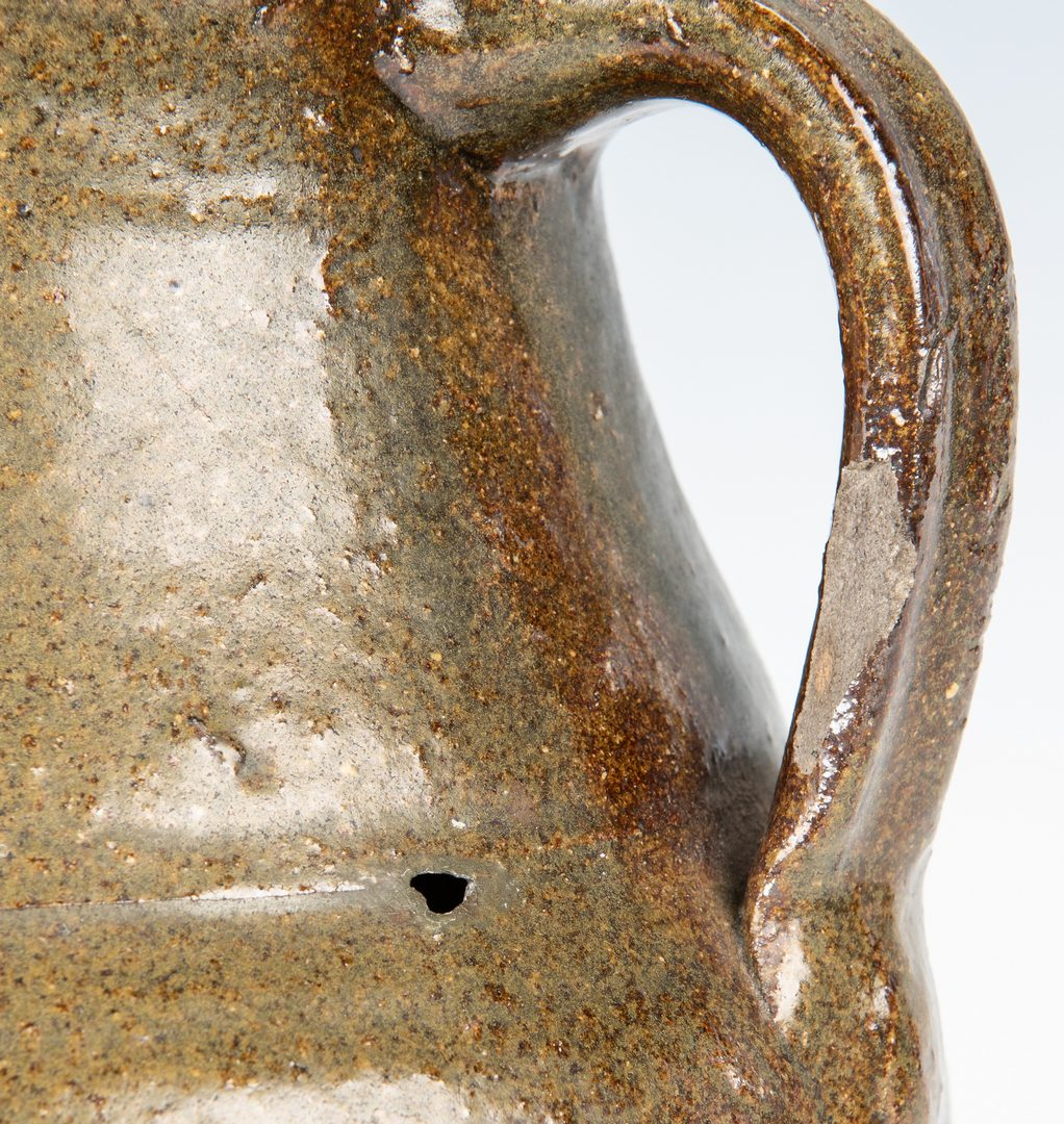 Lot 262: 4 Southern Folk Pottery Pcs. inc. Face Jug