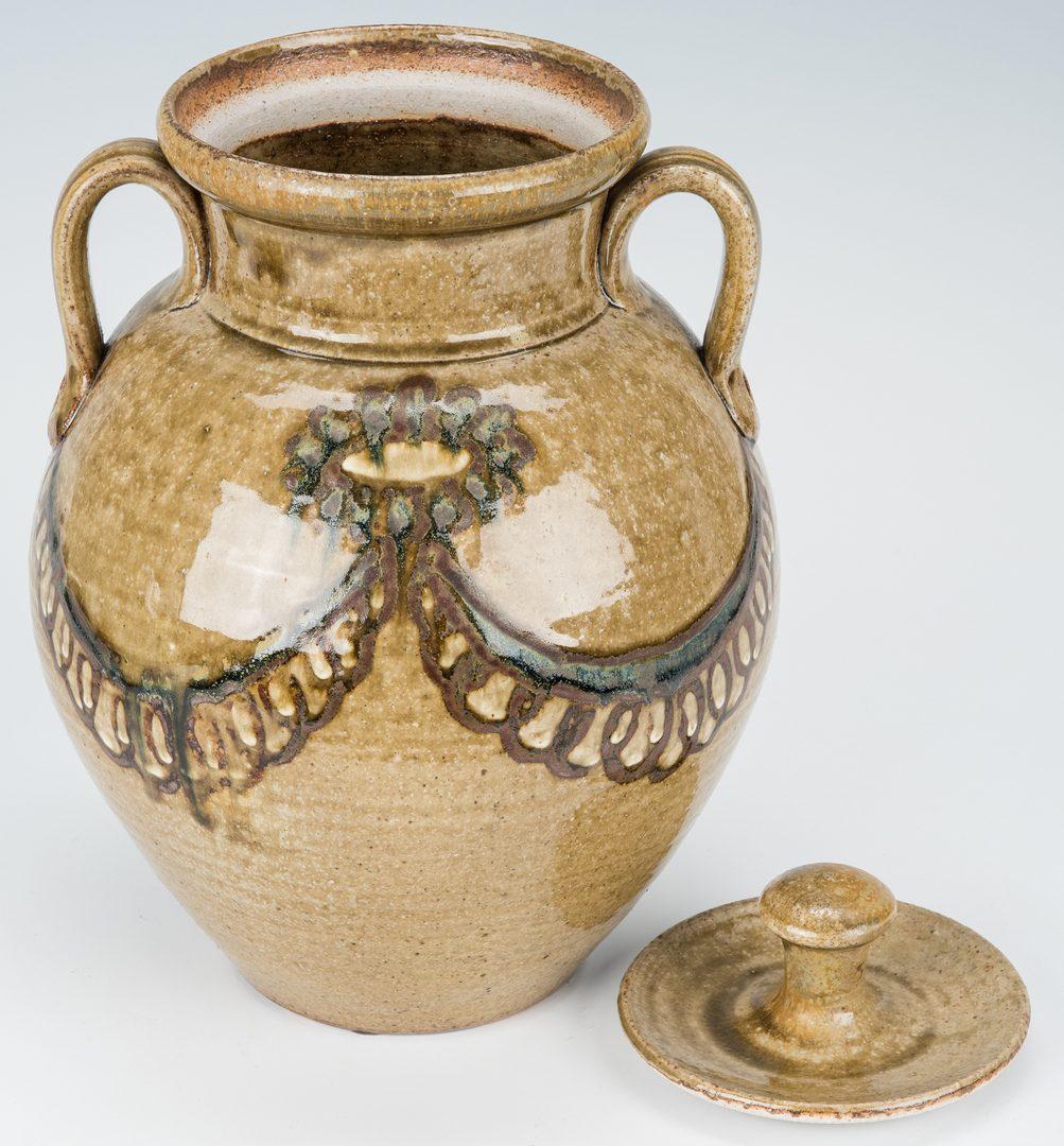 Lot 263: 2 NC Folk Pottery Pcs., Ellington & Jones
