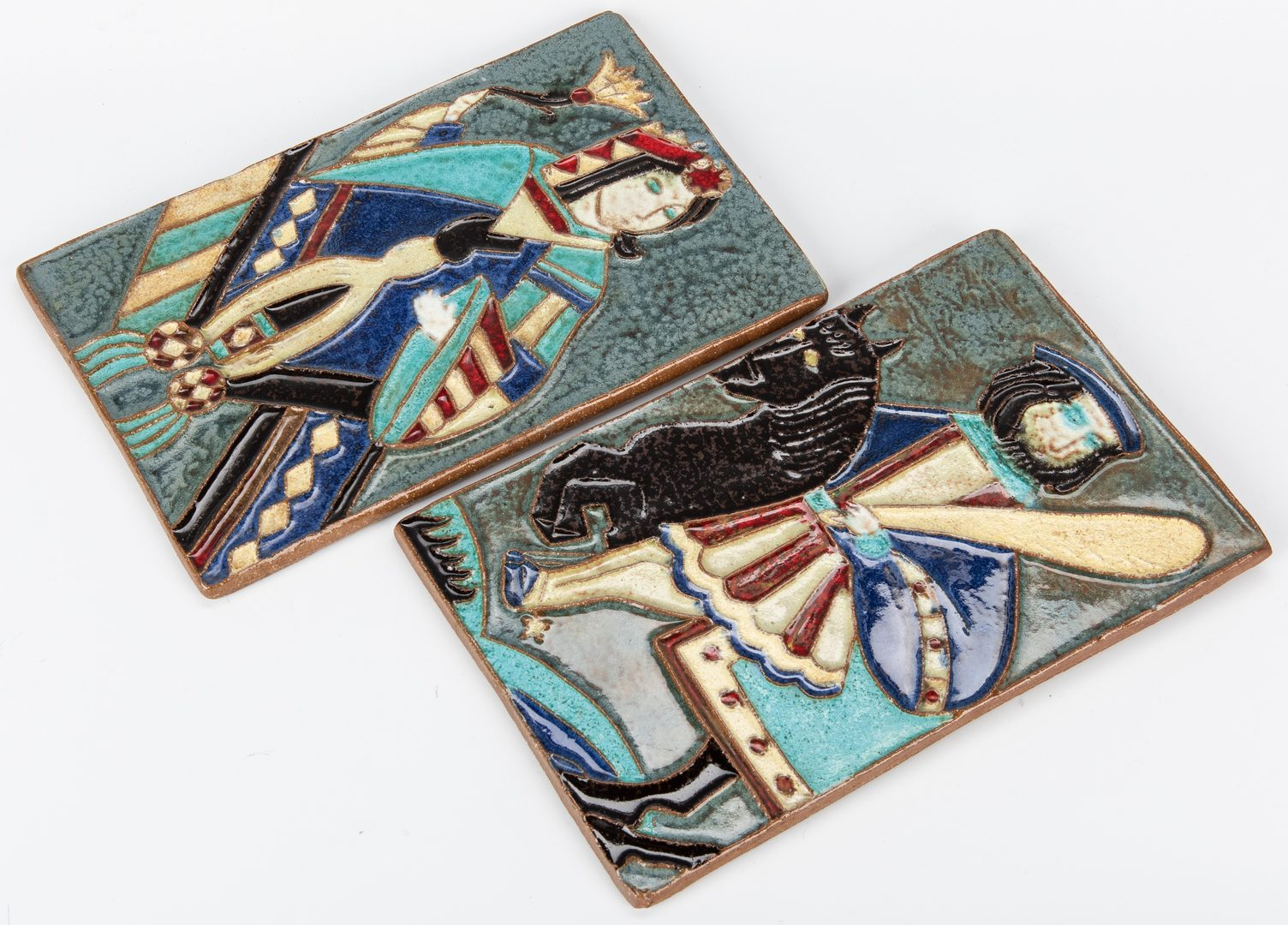 Lot 267: 4 Pcs Van Briggle Art Pottery, 2 Ceramic Tiles & 2 others