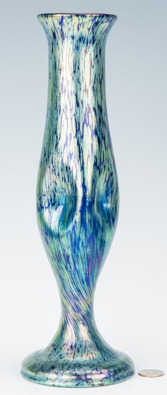 Lot 270: Loetz style Art Glass Vase, unmarked