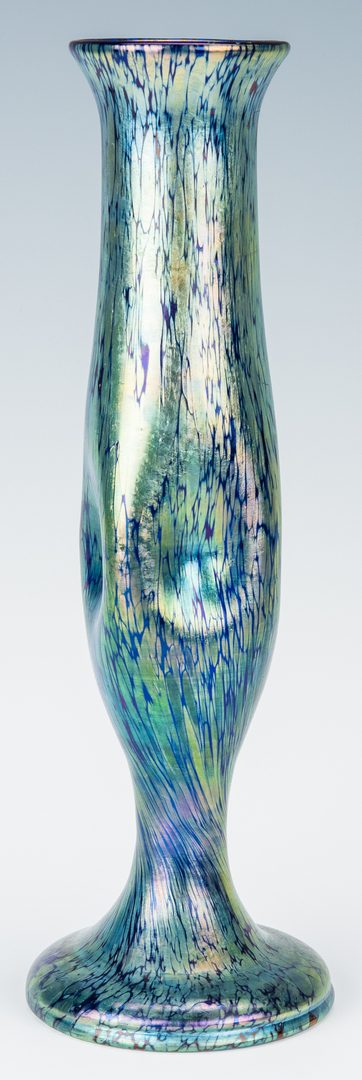 Lot 270: Loetz style Art Glass Vase, unmarked