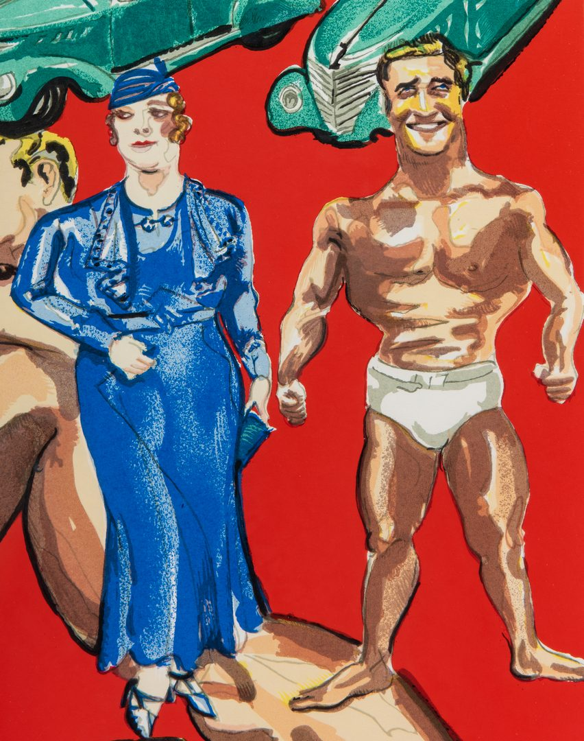 "Lot 271: Red Grooms signed print, ""You Can Have A Body Like Mine"""
